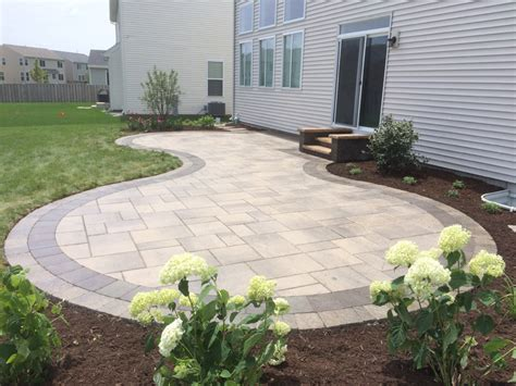 patio paver stones custom paver patio gallery conrades landscape design