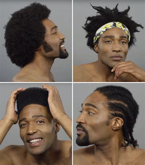 african american man hair cut styles from 1980 pictures 100 years of black hair cut revisits iconic men s hairstyles
