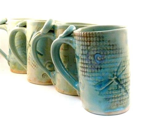 Custom Made Ceramic Mug Dragonfly Coffee Cup Large Pottery Mug by Blue Sky Pottery   CustomMade.com