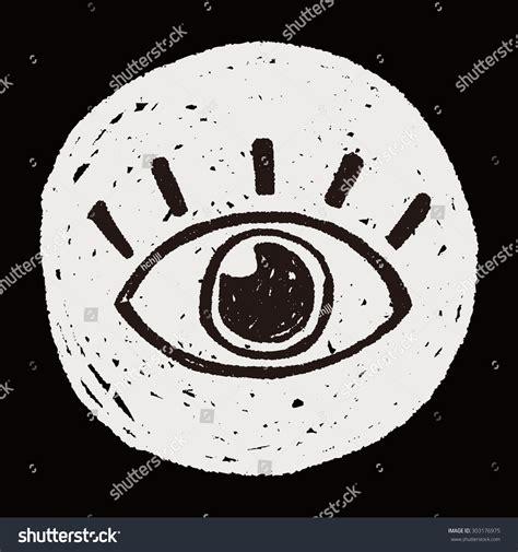doodle eye eye doodle stock vector 303176975
