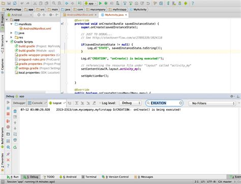tutorial android studio javaya java how to print to the console in android studio