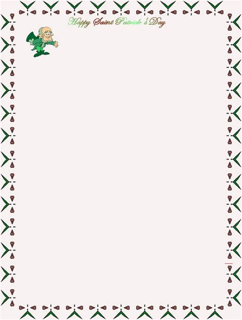 free printable unlined stationery 17 best images about st patrick s day stationery on
