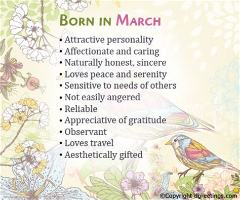 juliet jikes fascinating traits of people born in march