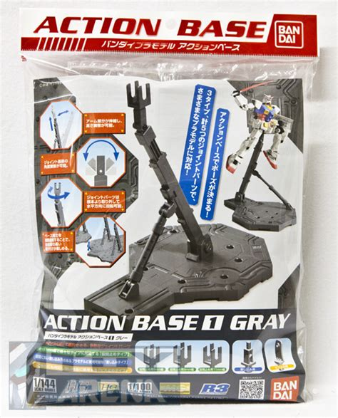 Standbase Hg Standar Custom gundam base 1 gray stand model kit