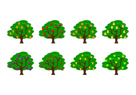 free clipart vector free fruit tree vector illustration free vector