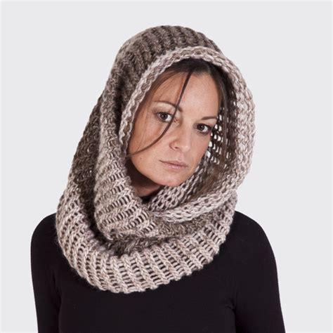 tejido bufanda de hombre cuello capucha de lana tejido a mano cuellos tejidos