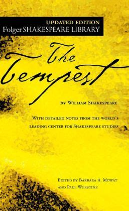 tempest books the tempest folger shakespeare library series by william