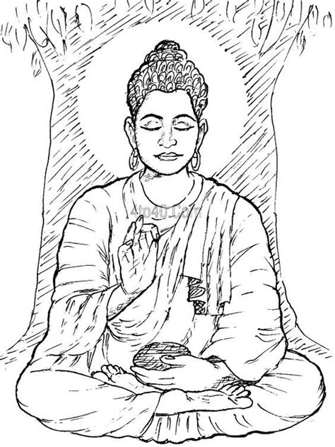 buddha coloring page coloring home