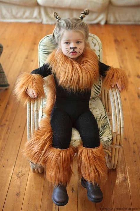 easy lion costume black leotard  leggings  fur