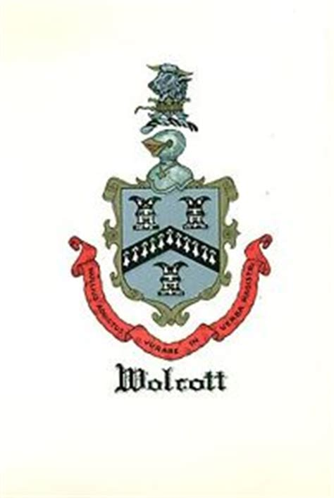 wolcott genealogy the family of henry wolcott one of the settlers of connecticut classic reprint books great coat of arms wolcott family crest genealogy would