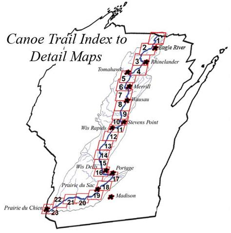 kayak map wis river canoe trail