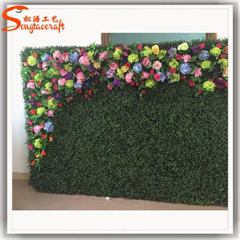 Plastic Grass Decoration by Stylized Plastic Artificial Grass Wall Artistic