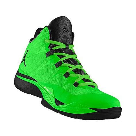 lime green and black nike jordans