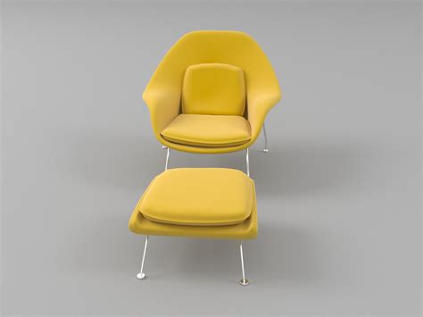 womb chair and ottoman womb chair and ottoman by artemishe 3docean