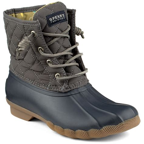 s duck boots sperry saltwater quilted duck boots graphite