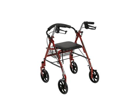 drive 4 wheel walker with seat drive folding walker rollator 8 quot 4 wheels with