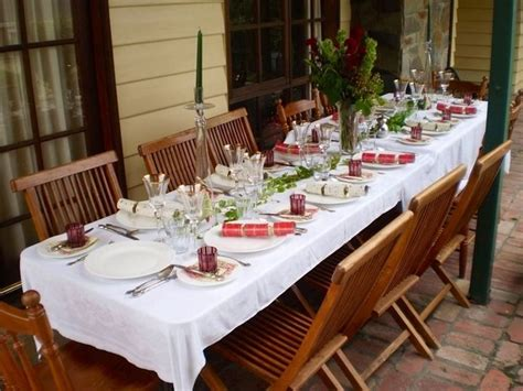 one of our christmas tables christmas in australia alfresco