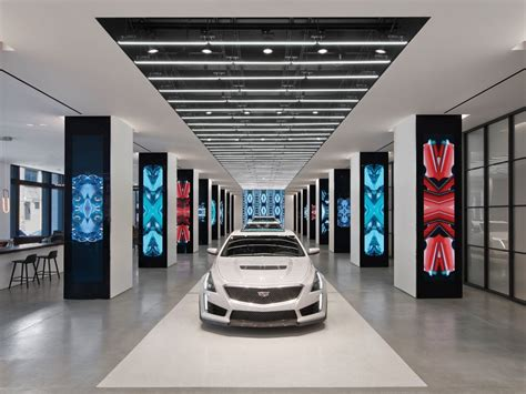design showrooms in new york part i voce cadillac house new york city architectural lighting magazine retail projects showrooms