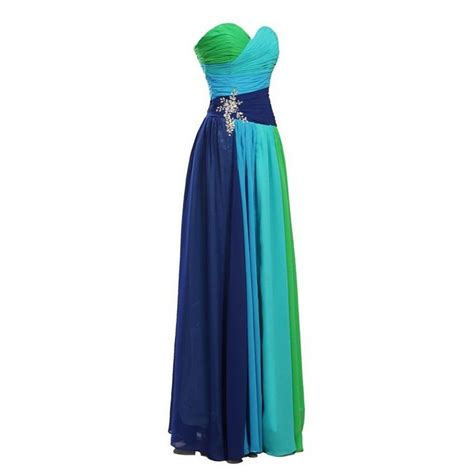 multi colored prom dress multi colored prom dress evening gown pst0471 on luulla
