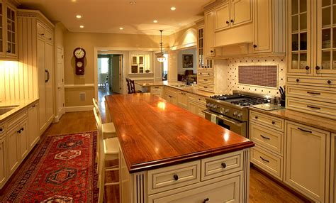 cherry wood countertops kitchen island in richmond virginia