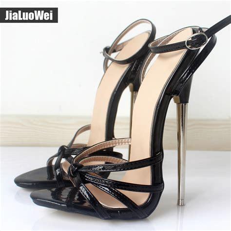 unisex high heels giaroslick new 2017 fashion ankle pointed toe