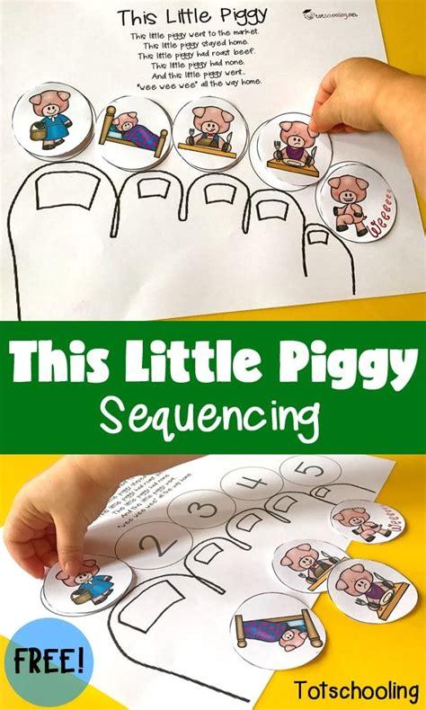 piggy sequencing nursery rhyme crafts