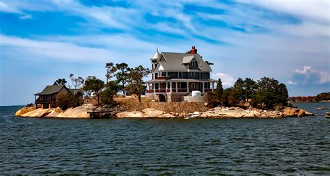 The House On The Island free images sea coast water lighthouse sky