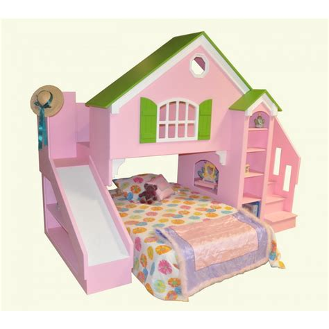 kids beds with slide scenic brown wooden bunk beds using white bed linen and