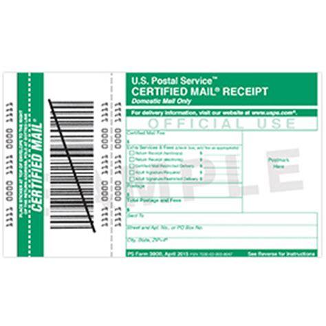 mail order receipt template certified mail receipt