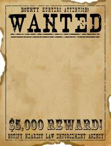 free wanted poster template printable free scrapbook graphics west wanted poster