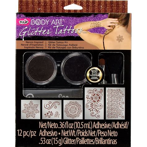 glitter henna tattoo kits tulip glitter kits shop ilovetocreate