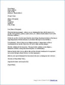 Cover Letter Of Intent by Free Letter Of Intent Template Sle Letters Of Intent D I Y Real Estate