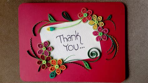 How To Make Paper Quilling Greeting Cards - paper quilling card how to make a beautiful greeting