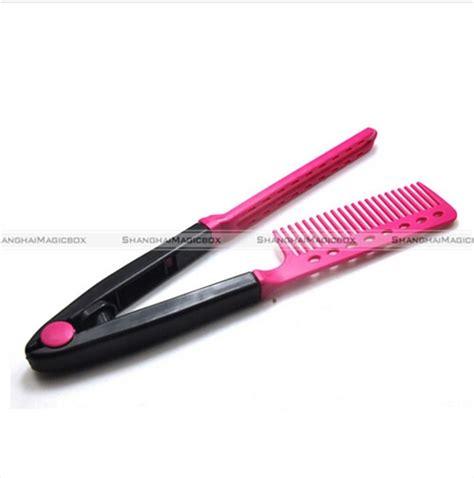 straightening hair brush ebay v comb folding styling hair straightener hairdressing