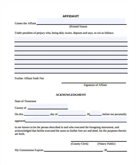 printable form in html 39 general affidavit forms in pdf