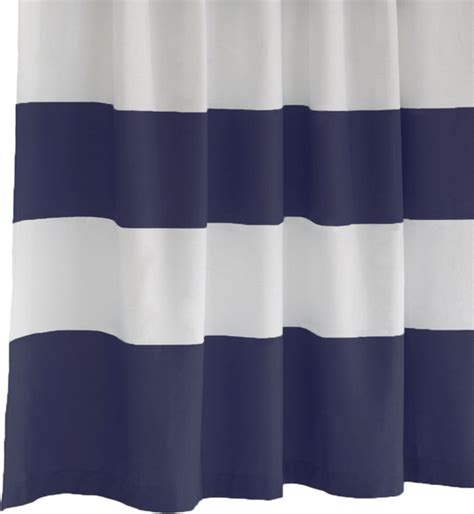 Navy Striped Curtains Stripe Shower Curtain Dusty Navy Modern Shower Curtains By West Elm Uk