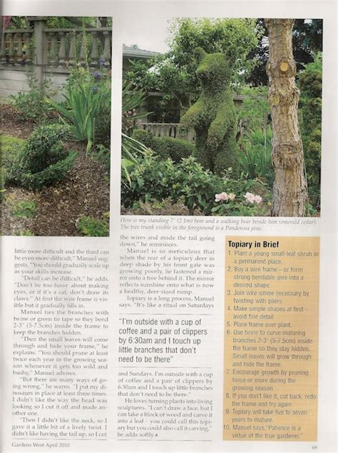 april 2010 gardens west magazine article bloom and grow photography