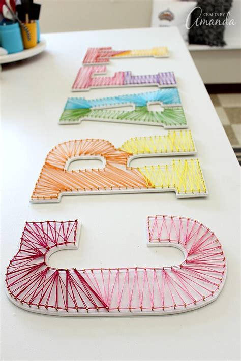 How To Make String Letters - best 25 string letters ideas on string