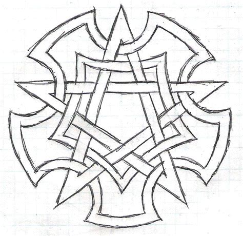 doodle pentagram wicca symbols and signs wiccan pentacle by katerlin on