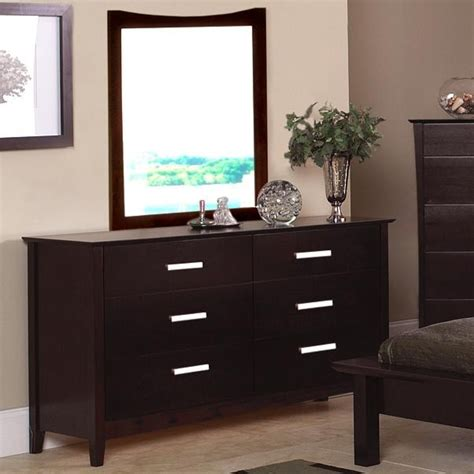 dark wood dresser mirror dark wood dresser mirror set with silver pulls new