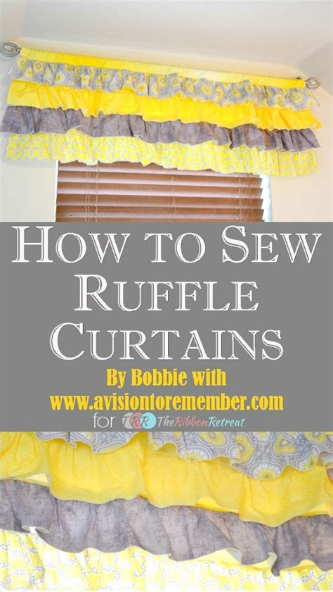 how to sew ruffles on curtains how to sew a ruffled valance curtain the ribbon retreat