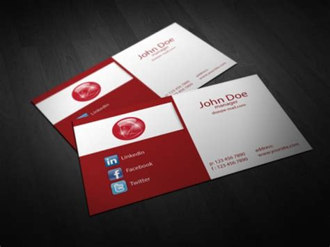 fold corporate business card template vector free download