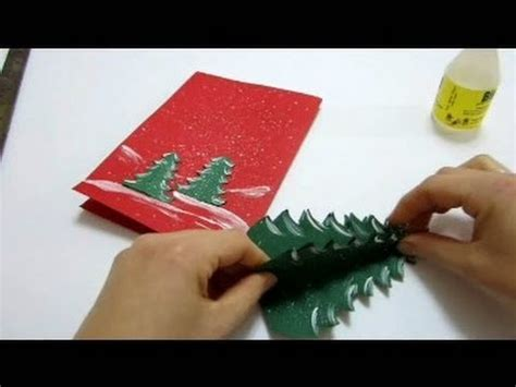 christmas card 3d making cards pop up card how to make a pop up tree card