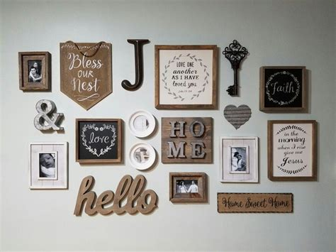 25 best ideas about rustic gallery wall on pinterest farmhouse rustic inspired gallery wall hobby lobby 50