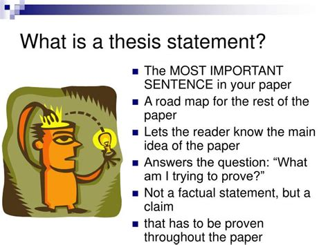what is the thesis ppt what is a thesis statement powerpoint presentation