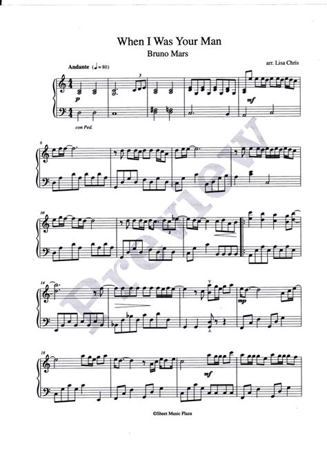 bruno mars piano mp3 download bruno mars when i was your man piano sheet music free