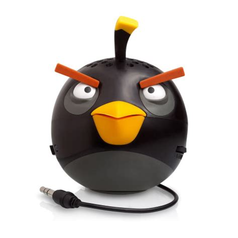 Speaker Mini Angry Bird by Gear4 Angry Birds G4pg779g Mini Speaker Black Bird