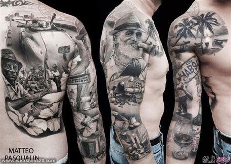 tattoo nightmares gorilla 男子花臂膀海滩人物纹身图案