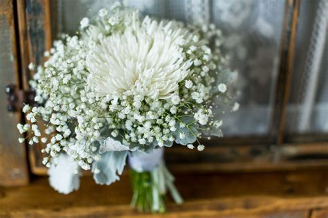 Wedding Bouquet Mums by White Spider Mums And Baby S Breath Bouquets