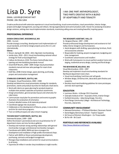 Resume Templates For Visual Merchandiser visual merchandising resume resume ideas